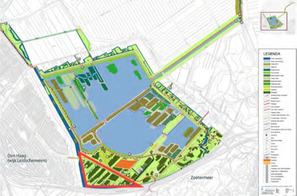 kaart lokatie voedselbuurtbos Zoetermeer